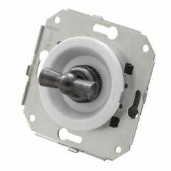 """Ретро выключатель перекрестный, белый/""""состаренное серебро"""", CL31WT.SL Salvador"""