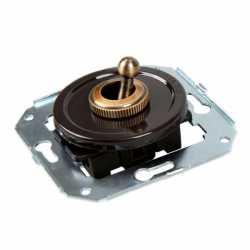 Ретро выключатель коричневый CL41BR Salvador одноклавишный проходной