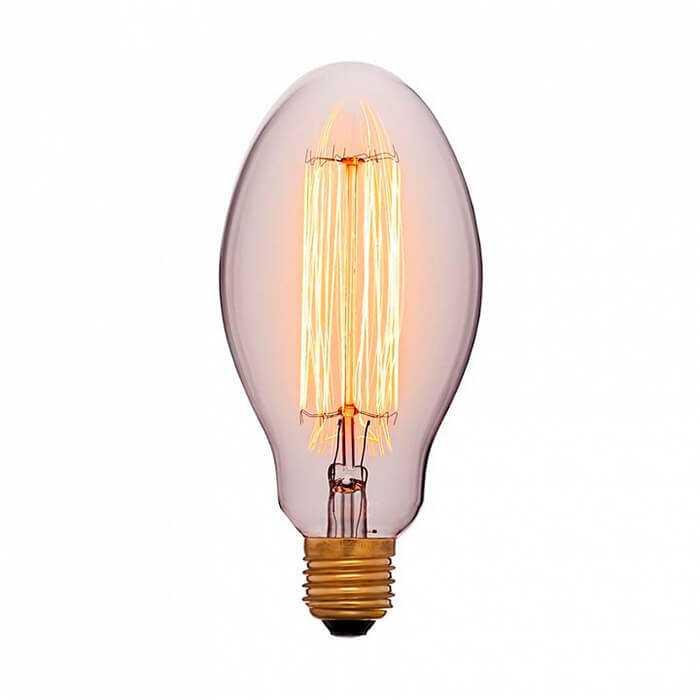 Лампа 80х165 40W 240V E27 Золотая 052-047