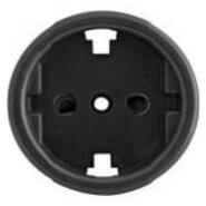 Накладка на механизм розетки BIRONI, для скрытого монтажа  B3-061-23 Черный
