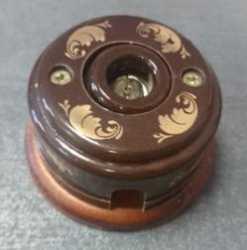TV Розетка керамическая (Магия золота) с подроз. вишня арт.Z003229