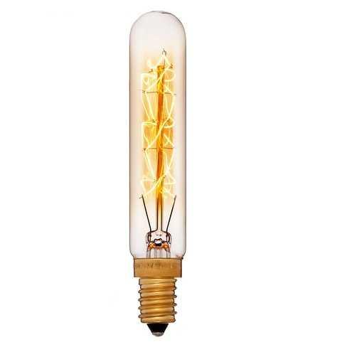 Ретро лампа Эдисона винтаж 20x110 40W 240V E14 Золотая 054-164
