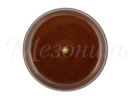 Коробка распределительная  фарфоровая D80*33мм , цвет - коричневый, МезонинЪ GE70235-04