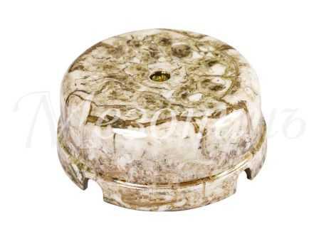 Коробка распределительная  фарфоровая D80*33мм , цвет - мрамор, МезонинЪ GE70235-19