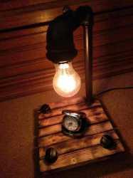 Настольный светильник Наваждение из чугуна,
