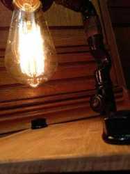 Настольный светильник Опиум в стиле Лофт из чугуна,