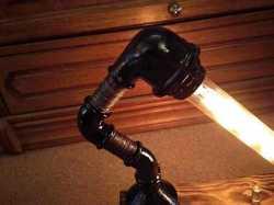 Светильник ночник Сталкер Настольная лампа в стиле Лофт (Loft) из чугуна