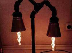 Настольный светильник Ботаника. Настольная лампа в стиле Лофт (Loft) из чугуна,