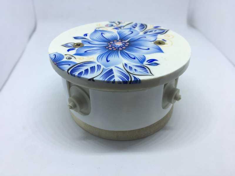 Комбинированная распаячная коробка (Лазурный) подрозетник береза арт.Z003357