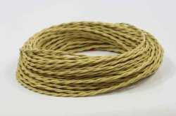 Ретро кабель Interior Wire витой ПРВ 2Х0.75 Золото шелк
