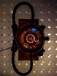 Настольная лампа Звонок из чугуна,