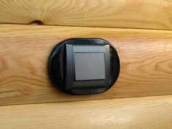 dev008903 Накладка на бревно 220-280, 1 местная, Derevfarfor, коллекция Овал, цвет -  черный