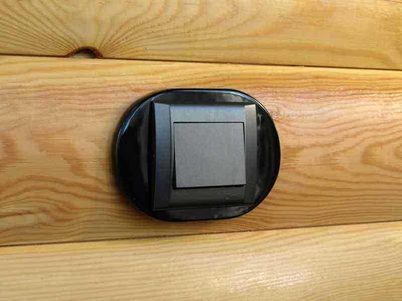 dev008901 Накладка для блок-хауса 30*40, 1 местная, Derevfarfor, коллекция Овал, цвет -  черный
