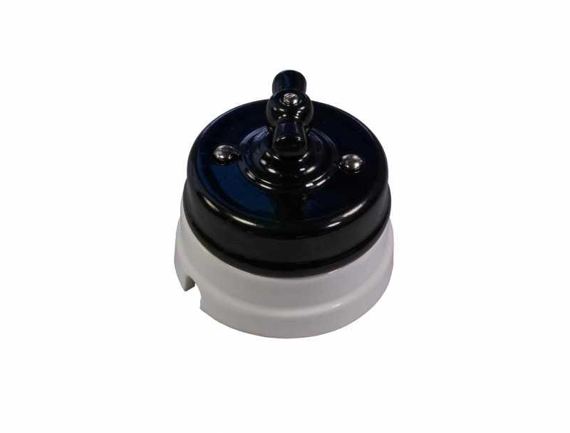 Механизм выключателя Ideal 2-кл., черный Retrika арт.R1-SW-28