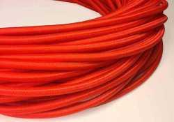 Провод декоративный, круглый Villaris 1207508, 2х0,75 матерчатый ПДК, цвет - красный