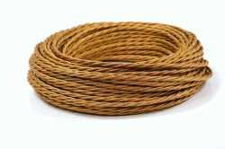 Interior Wire Провод витой ПРВ 2Х0.75  медный шелк, , Кратность заказа: 1, Гарантия: 12 месяцев, Тип изделия: Провод, Цвет: Медь, Тип монтажа: Открытый, Сечение: 1,5, Количество жил: 2, Материал корпуса: ПРВ, Единицы измерения: метры, Артикул производителя: ПРВ2075-К05, Производитель: Interior Wire, Страна: Россия