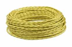 Interior Wire Провод витой ПРВ 2Х0.75 светлое золото шелк, , Кратность заказа: 1, Гарантия: 12 месяцев, Тип изделия: Провод, Цвет: Светлое золото, Тип монтажа: Открытый, Сечение: 1,5, Количество жил: 2, Материал корпуса: ПРВ, Единицы измерения: метры, Артикул производителя: ПРВ2075-К07, Производитель: Interior Wire, Страна: Россия