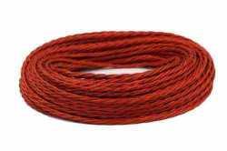 Ретрокабель Interior Wire витой ПРВ 2Х1.5 красный шелк, , Кратность заказа: 1, Гарантия: 12 месяцев, Цвет: Красный, Тип монтажа: Открытый, Сечение: 1,5, Количество жил: 2, Материал корпуса: ПРВ, Единицы измерения: метры, Артикул производителя: ПРВ2150-365, Производитель: Interior Wire, Страна: Россия