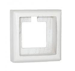 Рамка 2-ная Villaris-Simon, серия Plump, 7322014, цвет - молочно-белый
