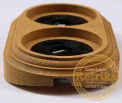 """RD-02222 Рамка двойная, """"Сосна"""", на бревно 220, , Совместимость: фурнитура Bironi, Retrika, Sun-Lumen, Кратность заказа: 1, Гарантия: 12 месяцев, Тип изделия: Рамка на бревно, Цвет: Сосна, Тип монтажа: На бревно, Материал корпуса: Дерево, Единицы измерения: штуки, Артикул производителя: RD-02222, Производитель: Retrika, Диаметры: 220, Страна: Россия"""