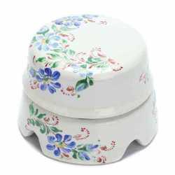 BOX2WT.RJ Распаечная коробка большая D85, белый с росписью Жостово