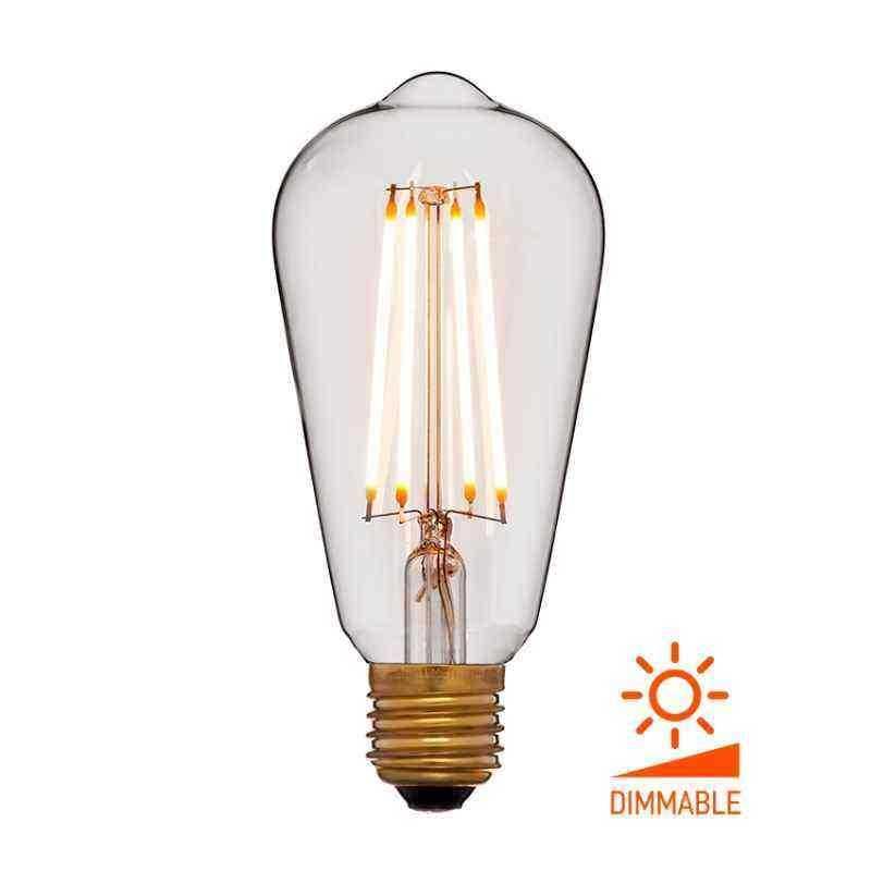 Лампа 64x142 Диммируемая; Без мерцания; Прозрачная; E27, 2000K, 400Lm, 4W, 240V 056-762