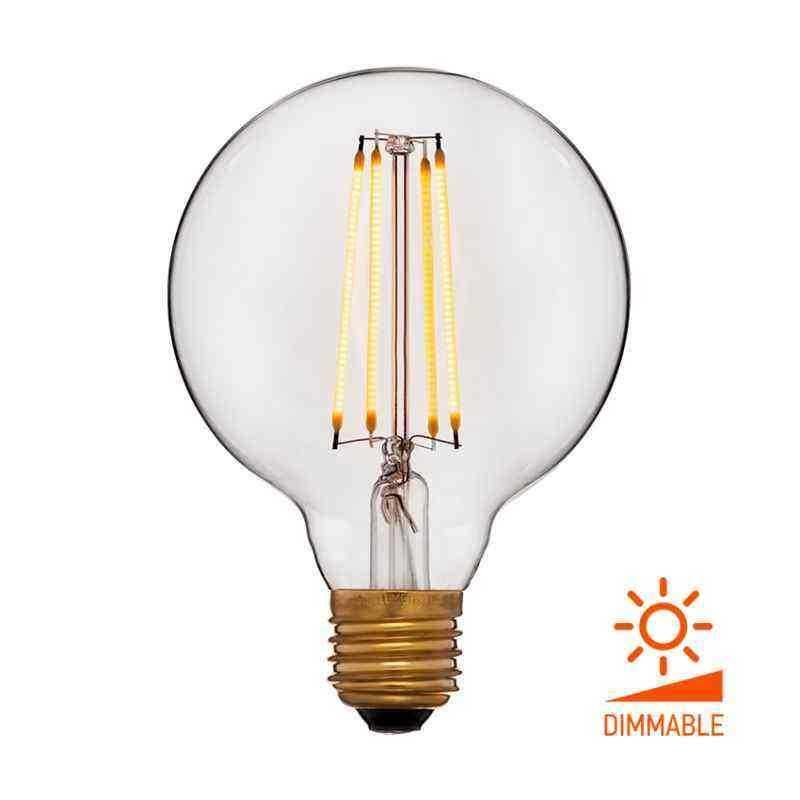 Лампа 95х140 Диммируемая; Без мерцания; Прозрачная; E27, 2000K, 400Lm, 4W, 240V 056-786