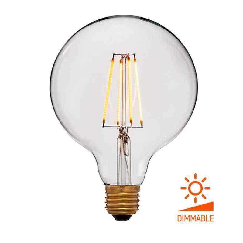 Лампа 125х172 Диммируемая; Без мерцания; Прозрачная; E27, 2000K, 400Lm, 4W, 240V 056-809