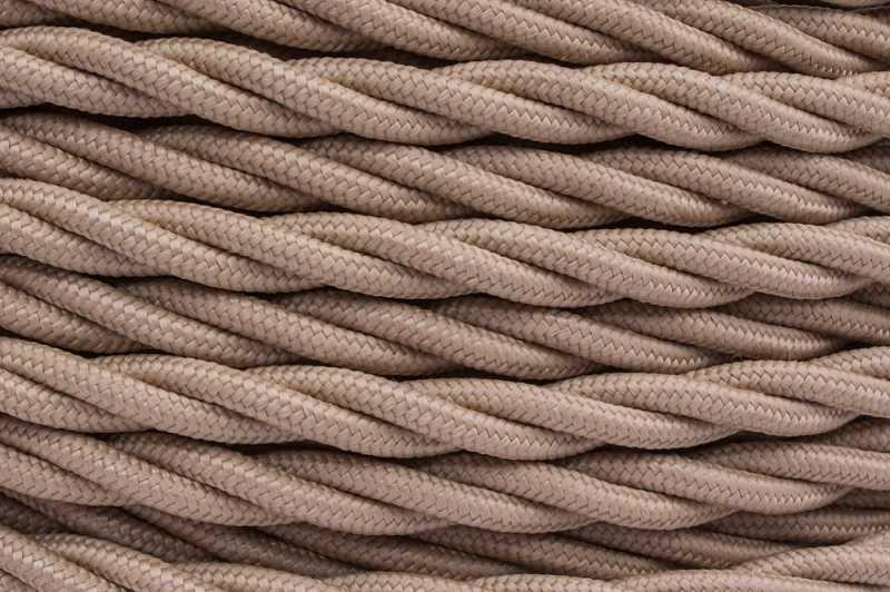 В1-424-716 Bironi Витой провод 2*1,5, «матовый капучино» 1 м.