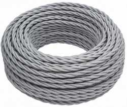В1-426-710 Bironi Коаксиальный кабель 1*1, «серебро» 1 м.