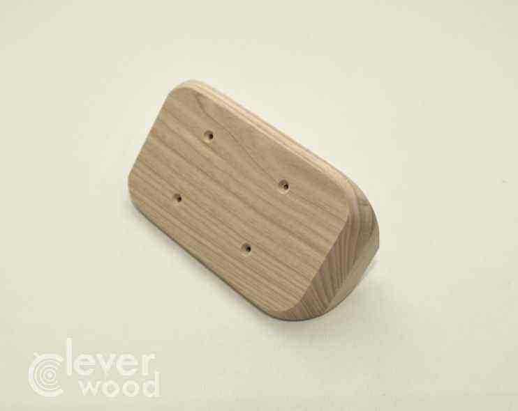 Накладка для двух розеток/выключателей Cleverwood ННМ-220.16.154х89.20.Я