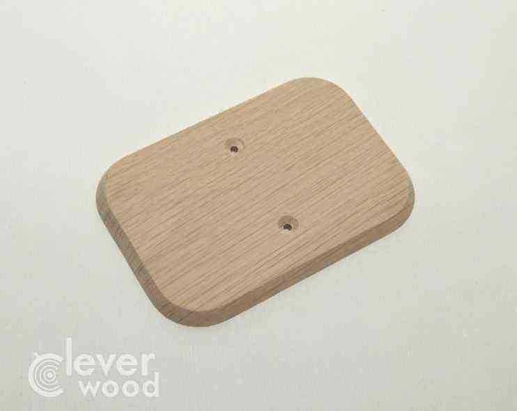 Накладка для сдвоенной розетки Cleverwood ПНМ-0.08.134*88.0 (плоские)15.Я