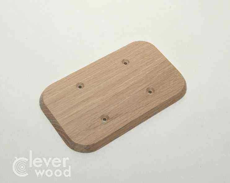 Накладка для двух розеток/выключателей Cleverwood ПНМ-0.08.148*88.0 (плоские)20.Я