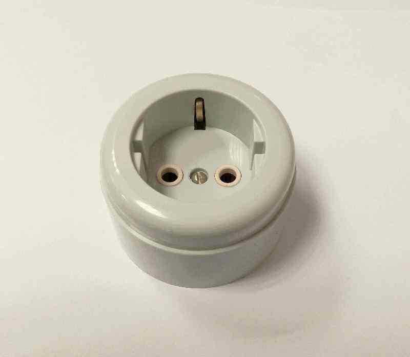 Interior Electric Розетка с/з, о/у, 16А, ABS, grey (серый)