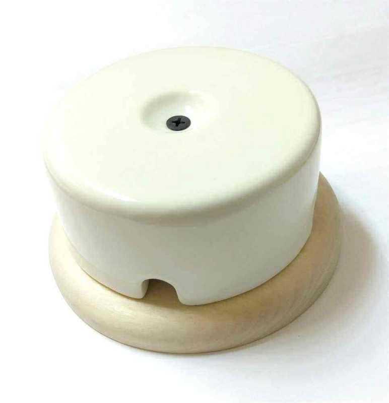 Interior Electric Коробка распределительная керамическая на подложке Белая