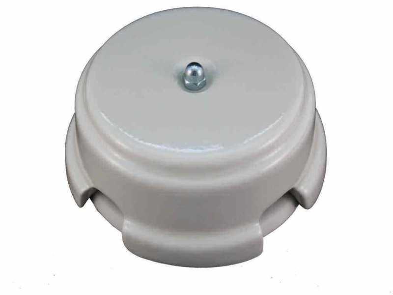 Leanza Коробка распаячная монтажная, D93 цвет bianco (белый), серебристый колпачок КРБС