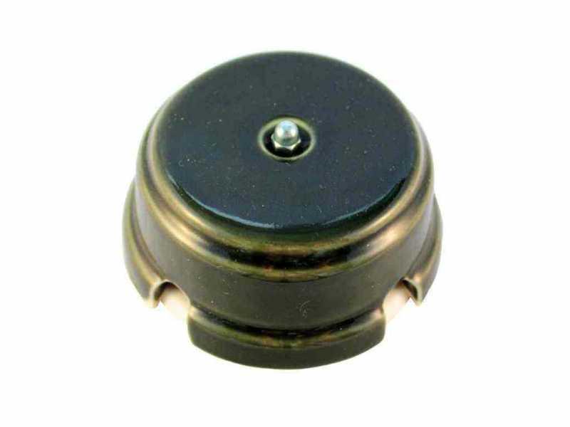 Leanza Коробка распаячная монтажная, D93 цвет grigio (серый), серебристый колпачок КРСС