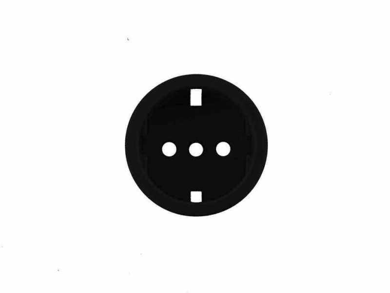 Leanza Накладка пластиковая для розетки, цвет nero (черный) НПРЧ
