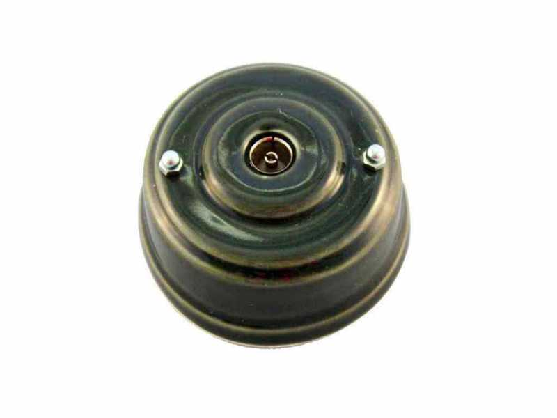 Leanza Розетка телевизионная оконченная, цвет grigio (серый), серебристые колпачки РТОСС